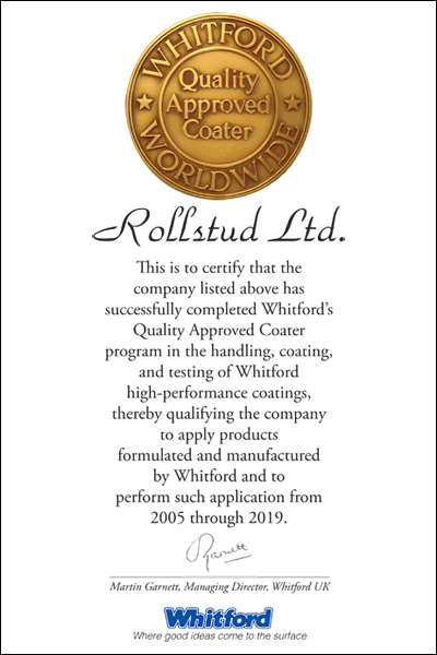 Whitford Certificate